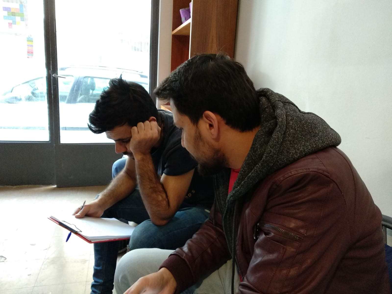 Nasir & Samer-working-on-cv.jpg