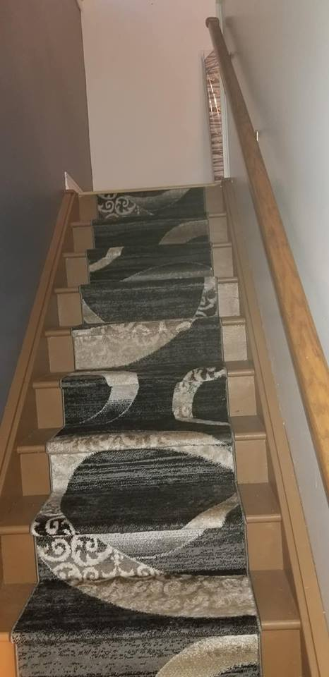 New soft carpet installed in main staircase