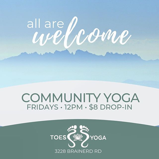 Community Yoga @toesyogachattanooga starts next Friday 5/3 at 12pm! $8 drop-in. All are welcome ✨ ⠀⠀⠀⠀⠀⠀⠀⠀⠀ #yoga #chattanooga #chattanoogayoga #communityyoga #yogaforall