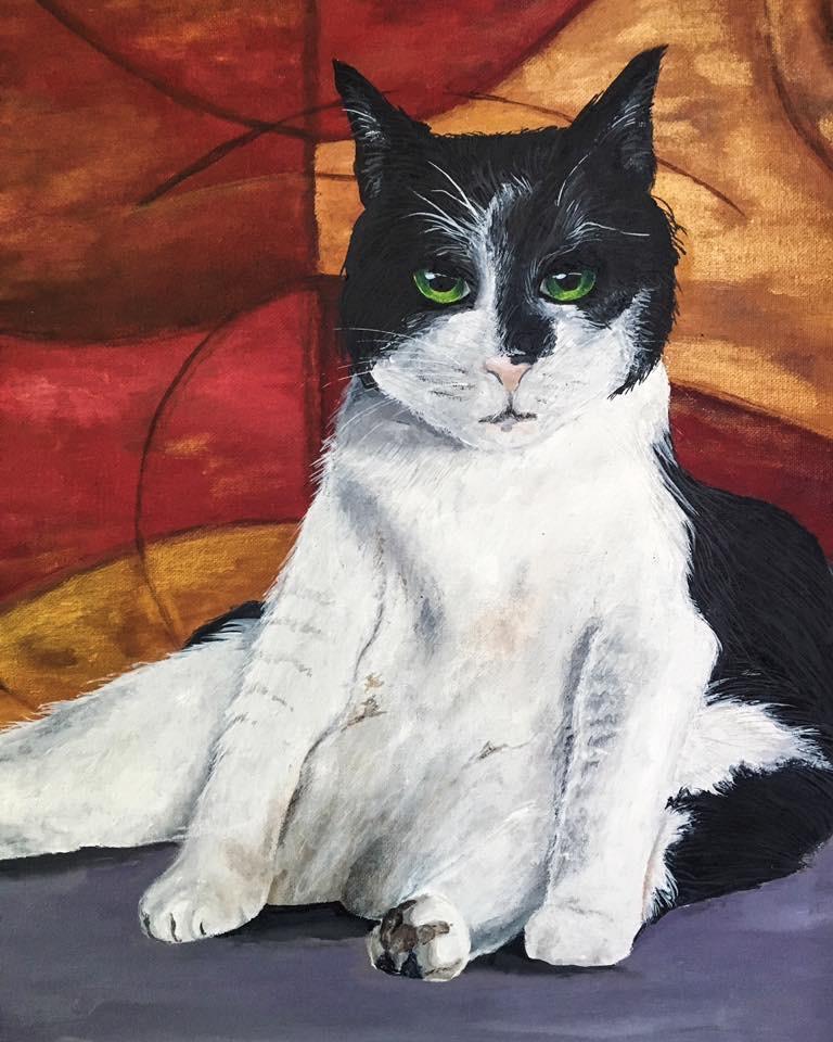 "Acrylic on Canvas 18""x20""  SOLD"