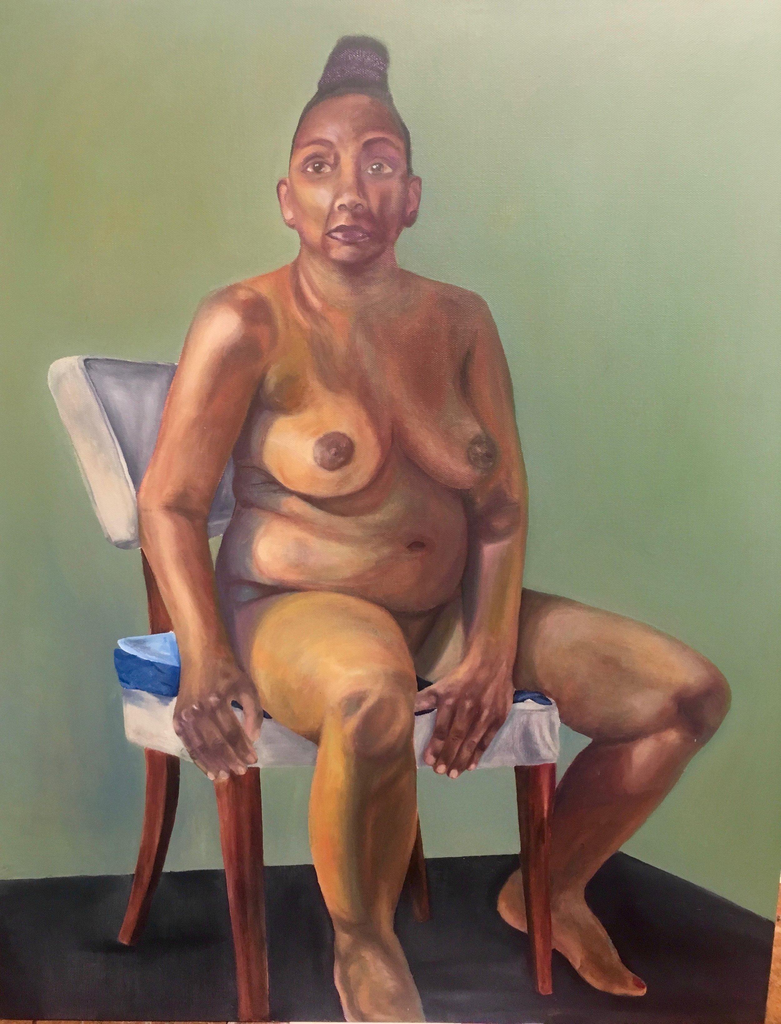 "Catherine  Oil on Canvas 20""x24""  $500"
