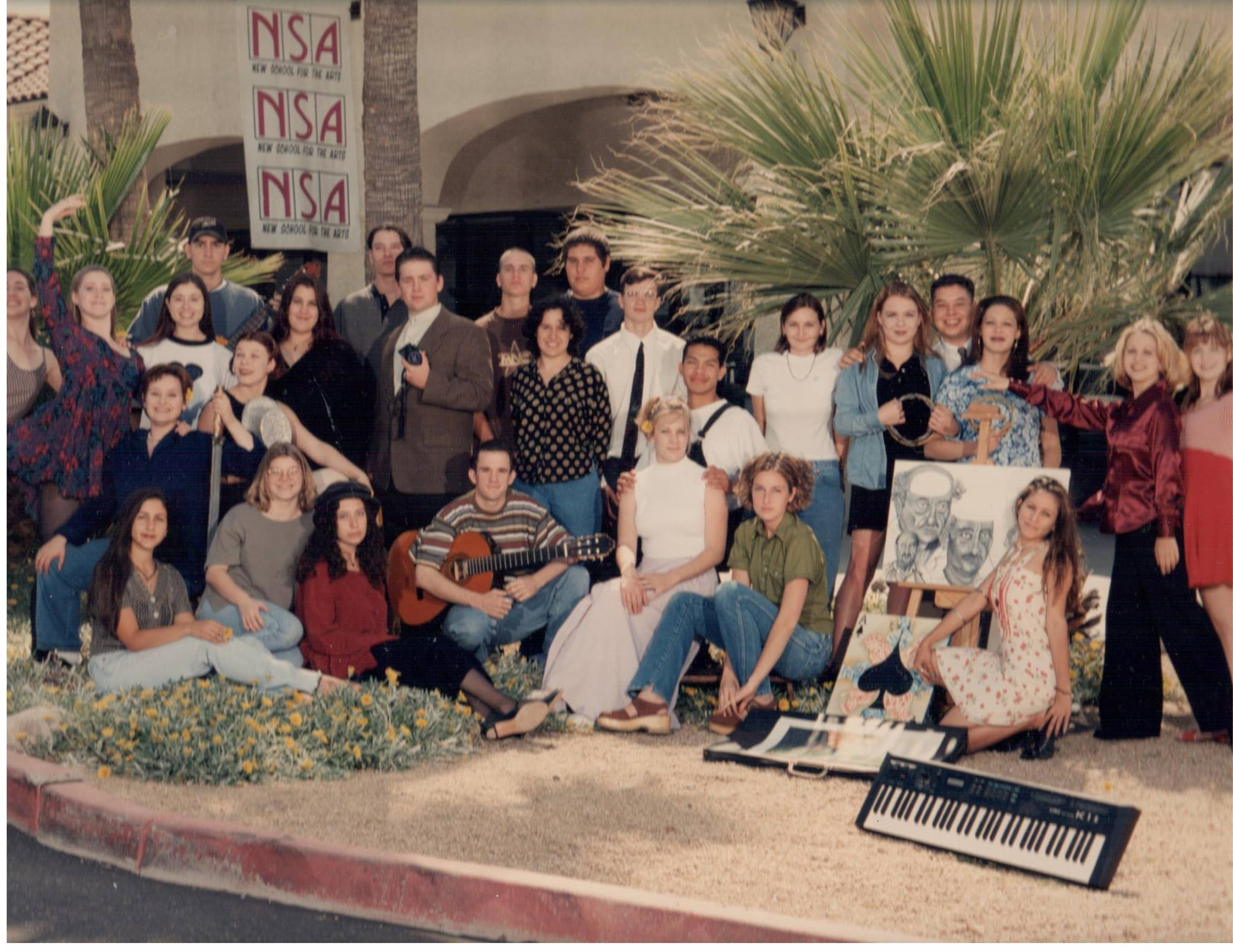 New School for the Arts' first graduating class in front of the original Scottsdale location.