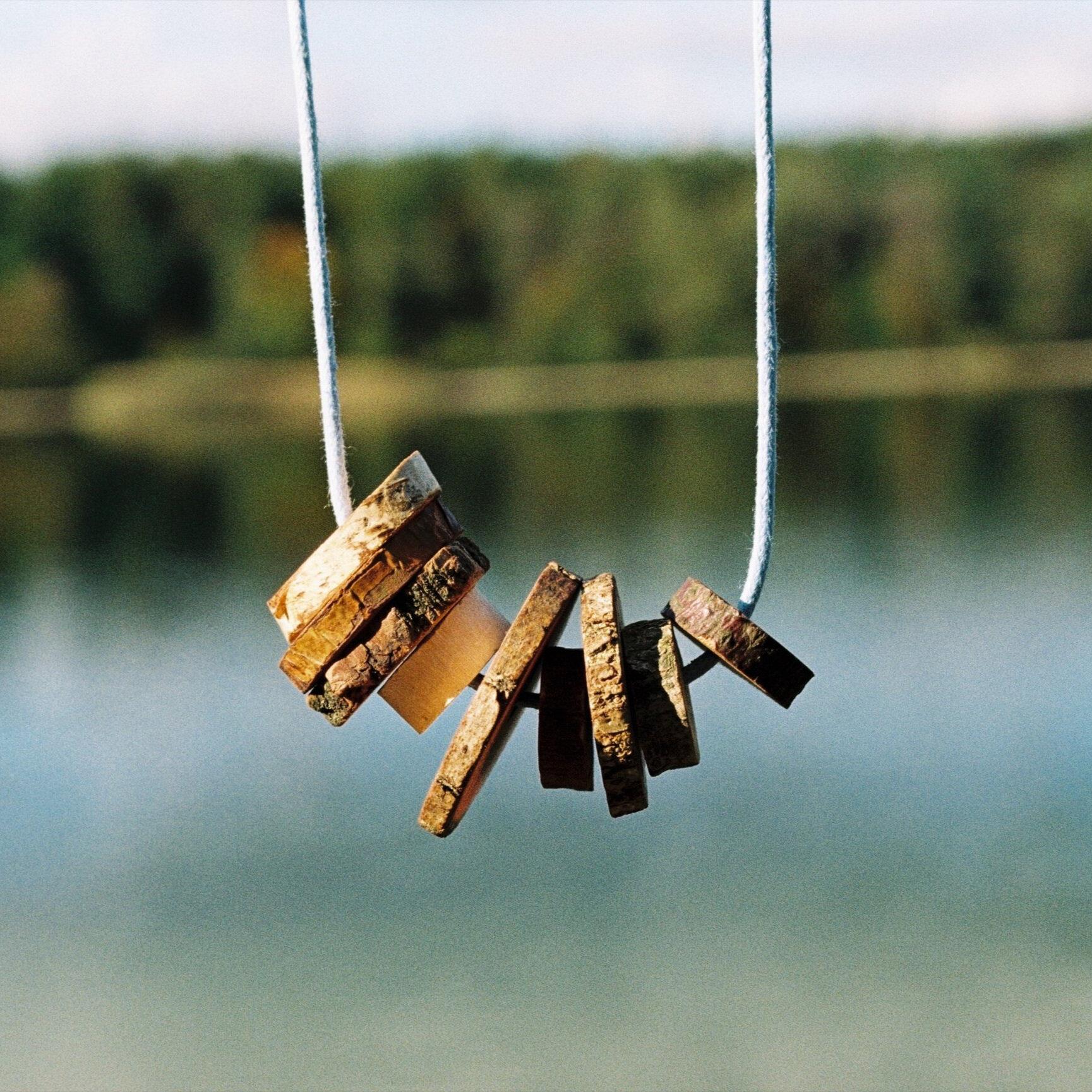 Neunerlein-Holzkette -