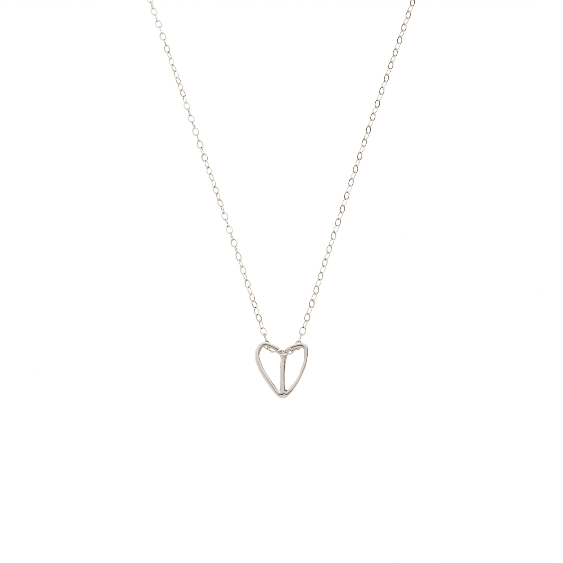 Skeleton Half Heart -Full Heart Charm, Sterling Silver, 2011