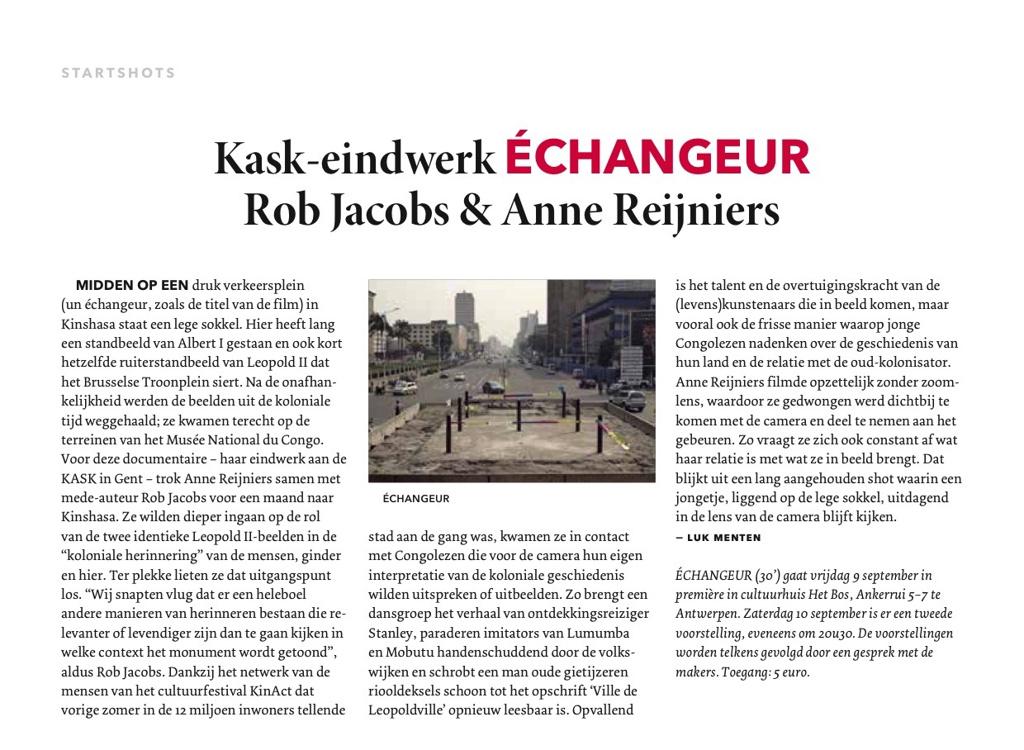 Article published in Filmmagie (Dutch, September 2016)