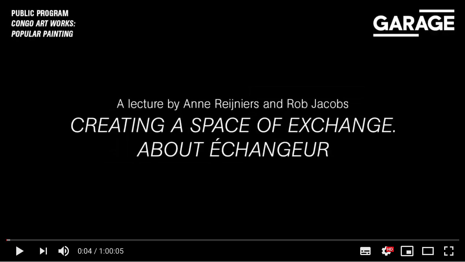 A SPACE OF EXCHANGE (2017)  - a lecture