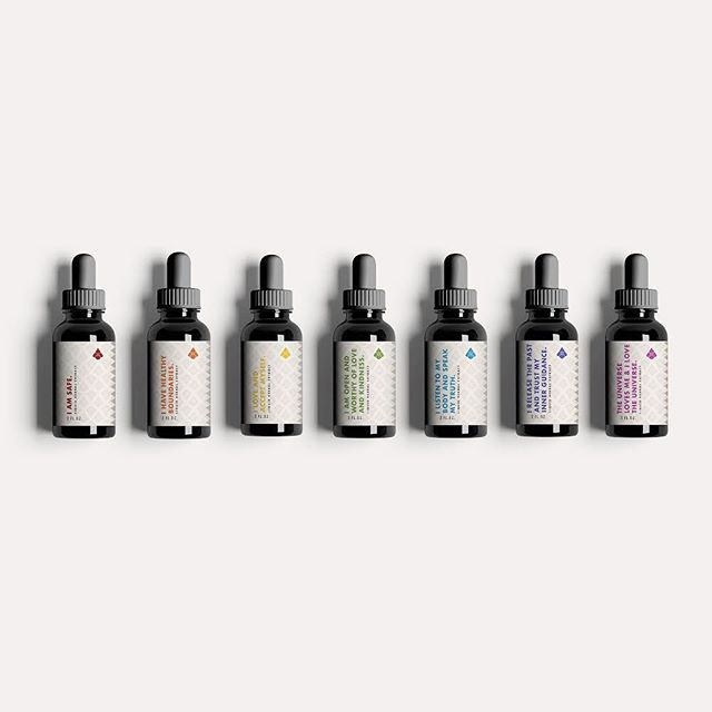 How fun is the tincture line we designed for @calyxaustin? Each tincture is developed to treat and speak to the seven chakras, the invisible wheels of energy in our bodies, our vital life source. 😍