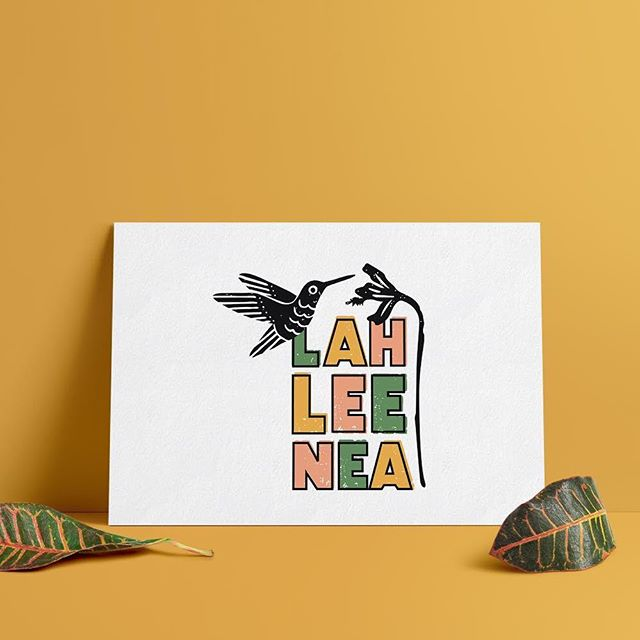 Excited to be finalizing the logo design for Lahleenea, a new Honduran restaurant start-up in Austin! Love the bold color and texture of this one.