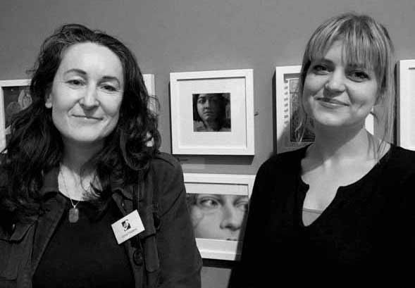 Myself and Emma Fay (right) on whom the work is based on.