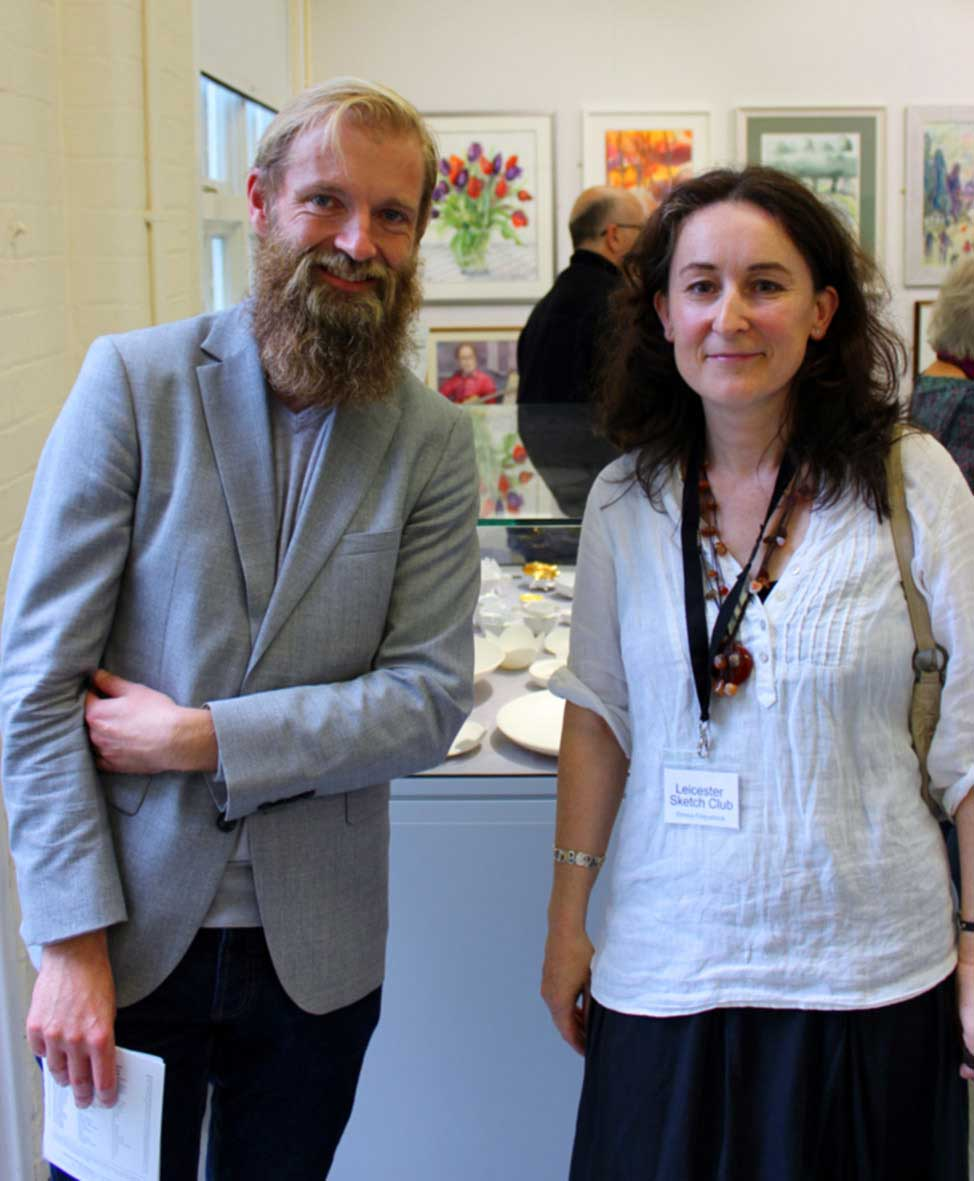 Launch afternoon. Myself and Hugo Worthy who opened the exhibition.