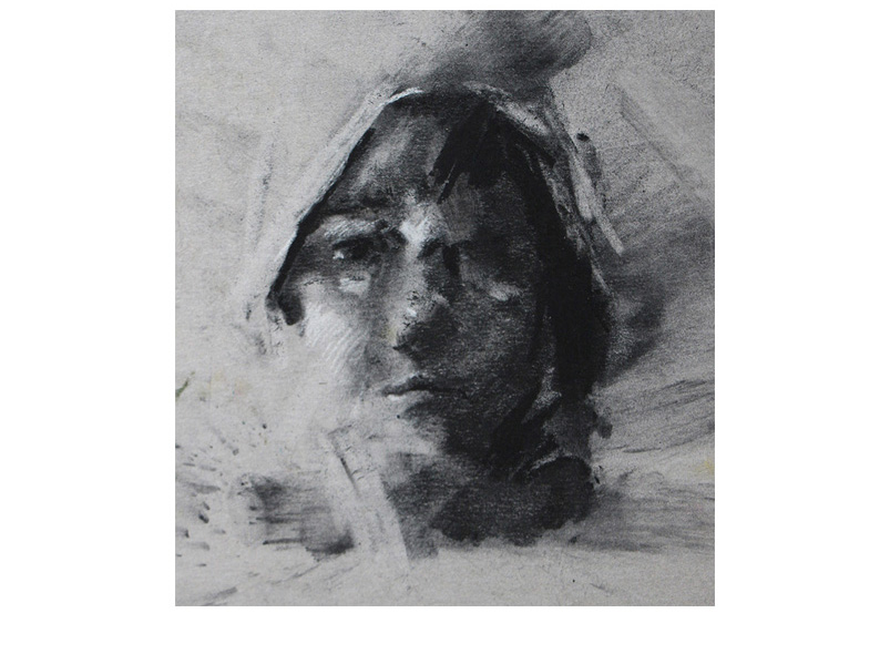 Girl's Face (Charcoal)