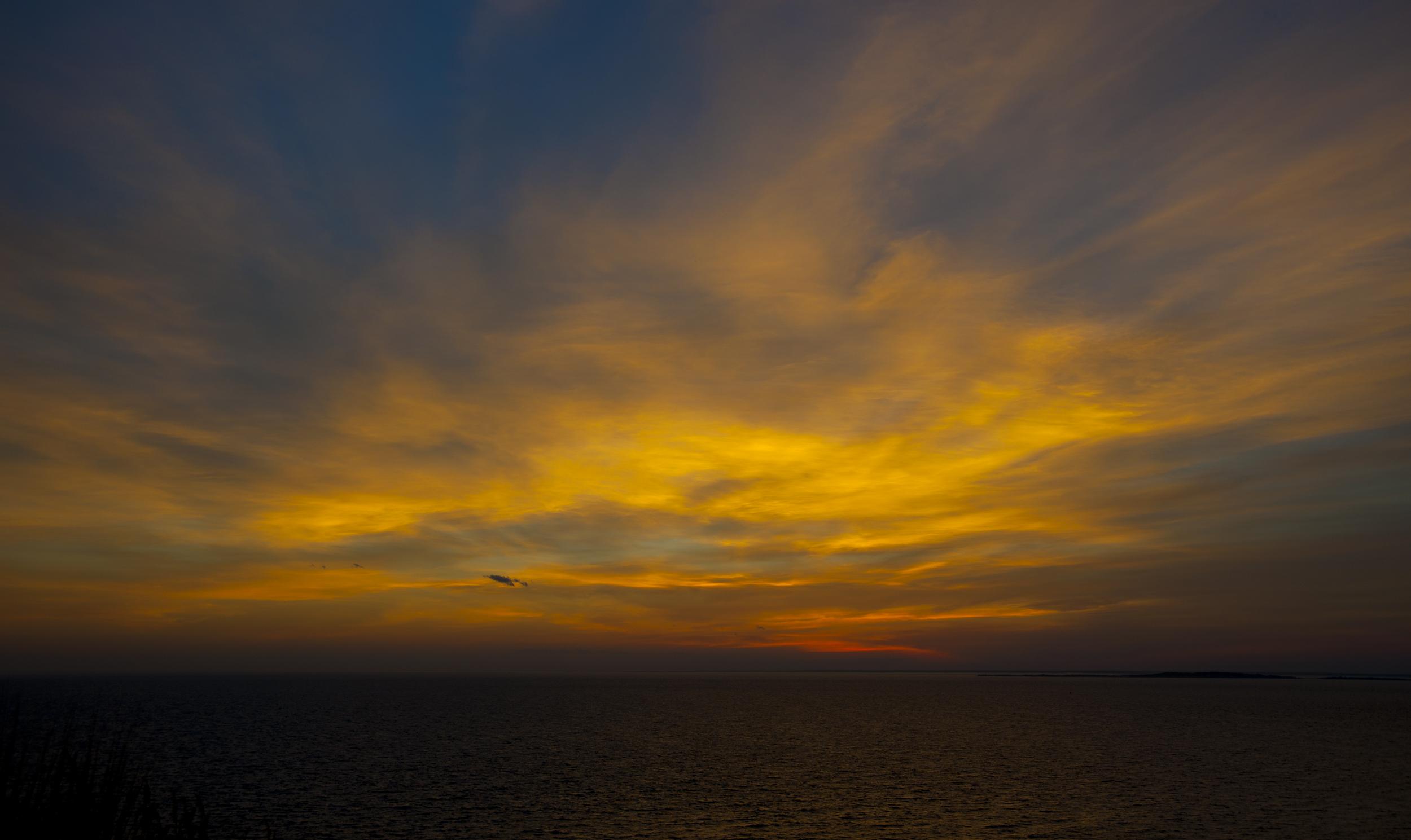 Sunset from Aquinnah Ciffs Overlook -