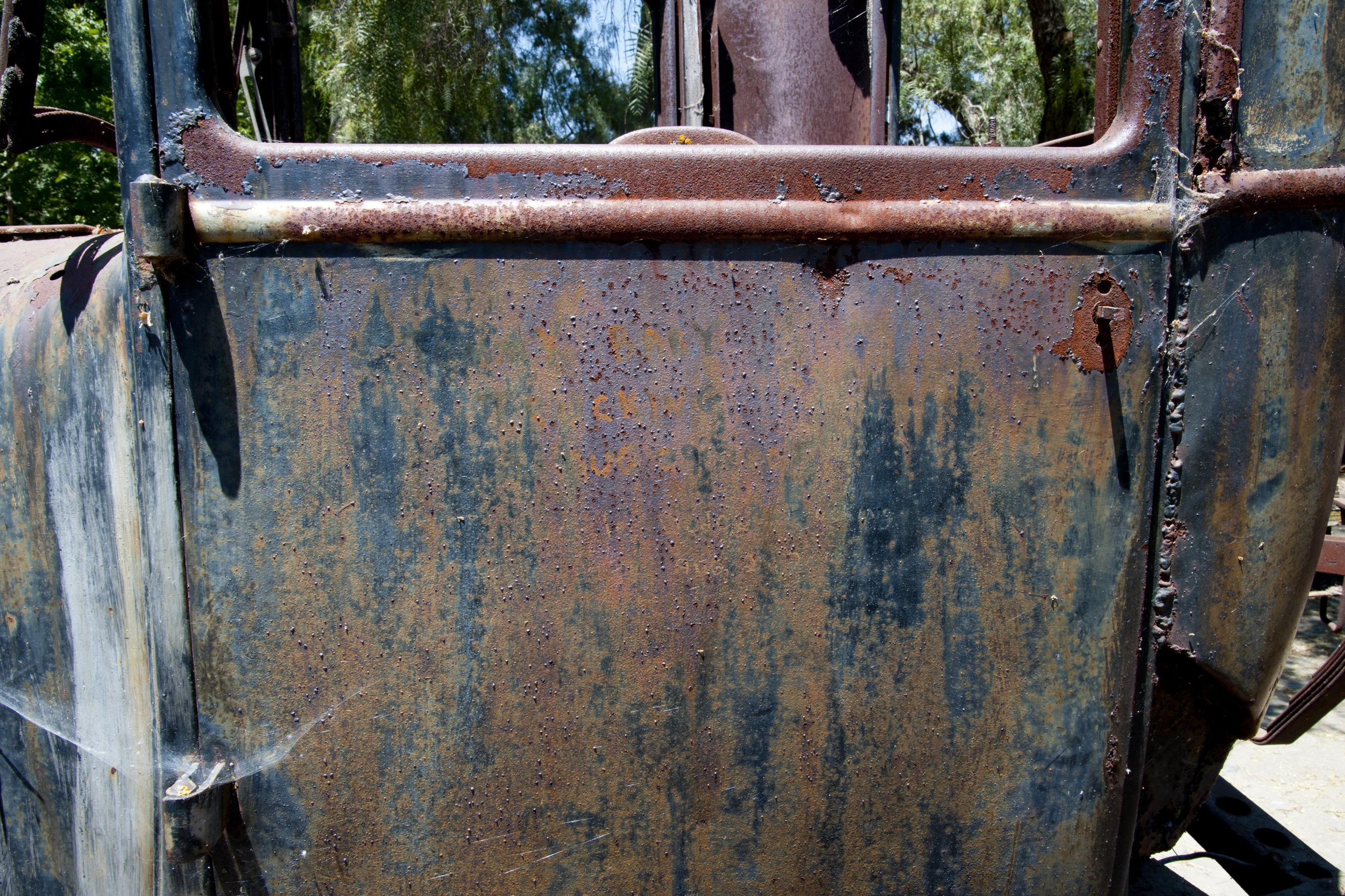 Rusted Car Door -