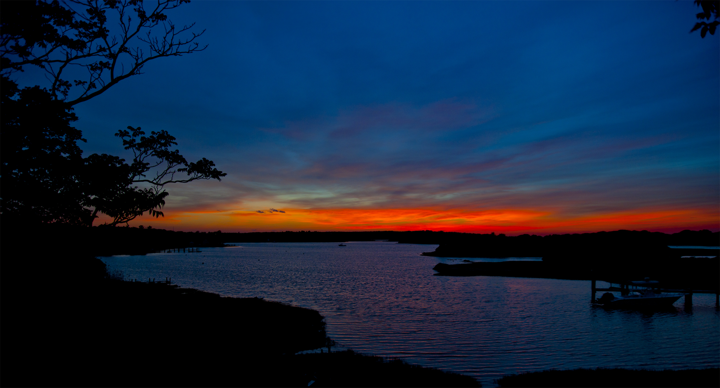 Sunset Over Nashaquitsa Pond, Marthas Vineyard -