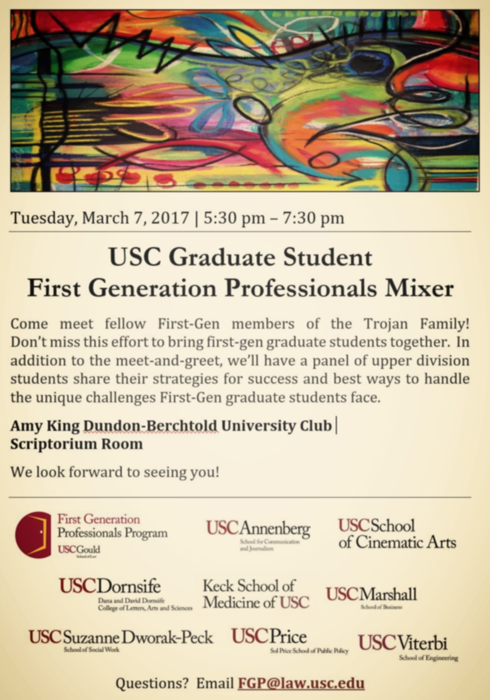 Mentorship: Part of a USC First Generation Graduate Student Panel