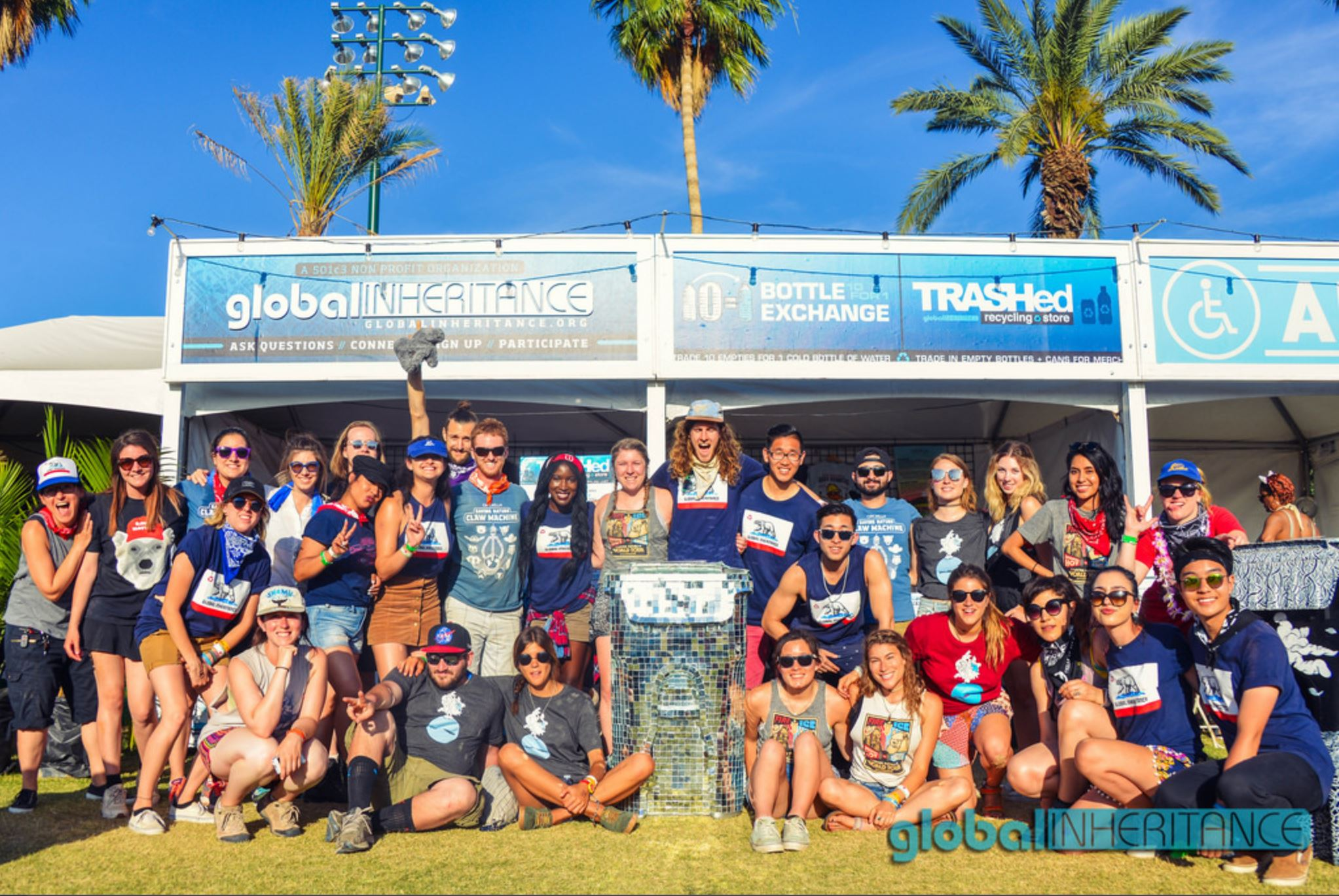 Outreach: Volunteer Manager for Global Inheritance recycling programs at Coachella