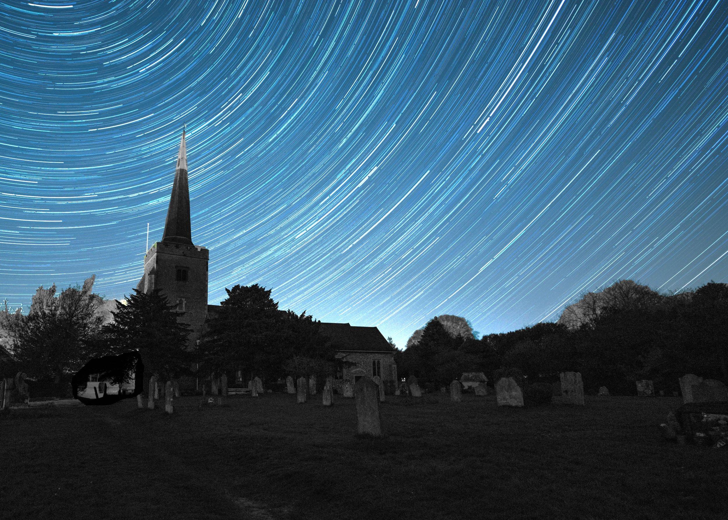 church star trail final B&W post card.jpg