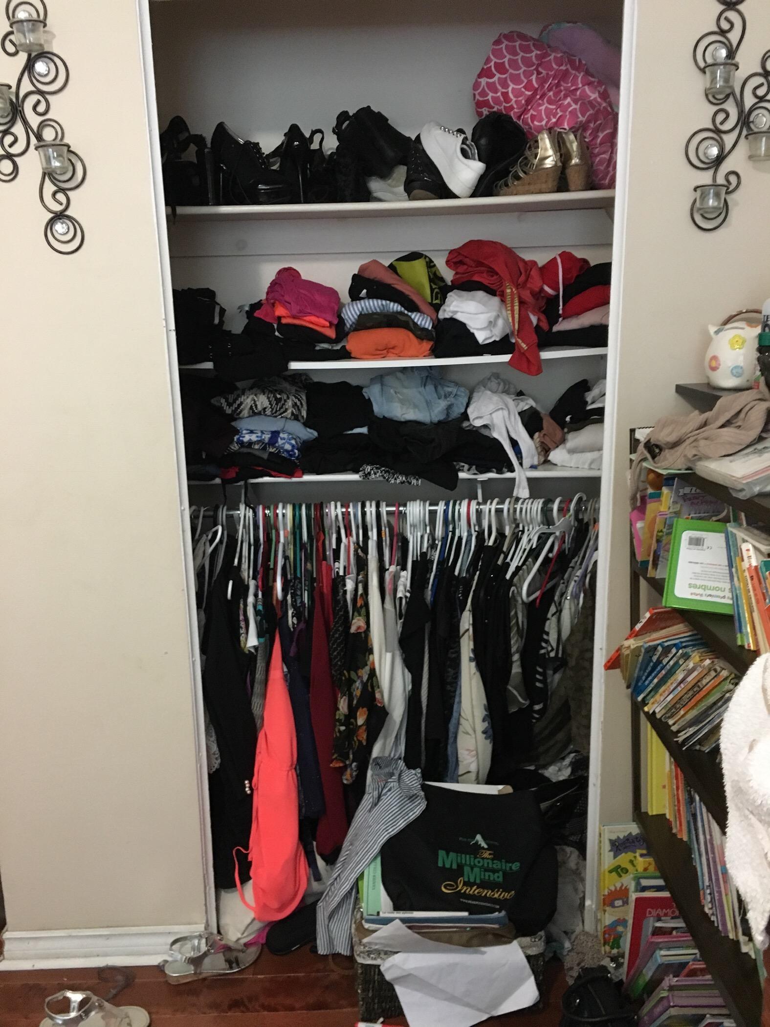 Closet 1: Before