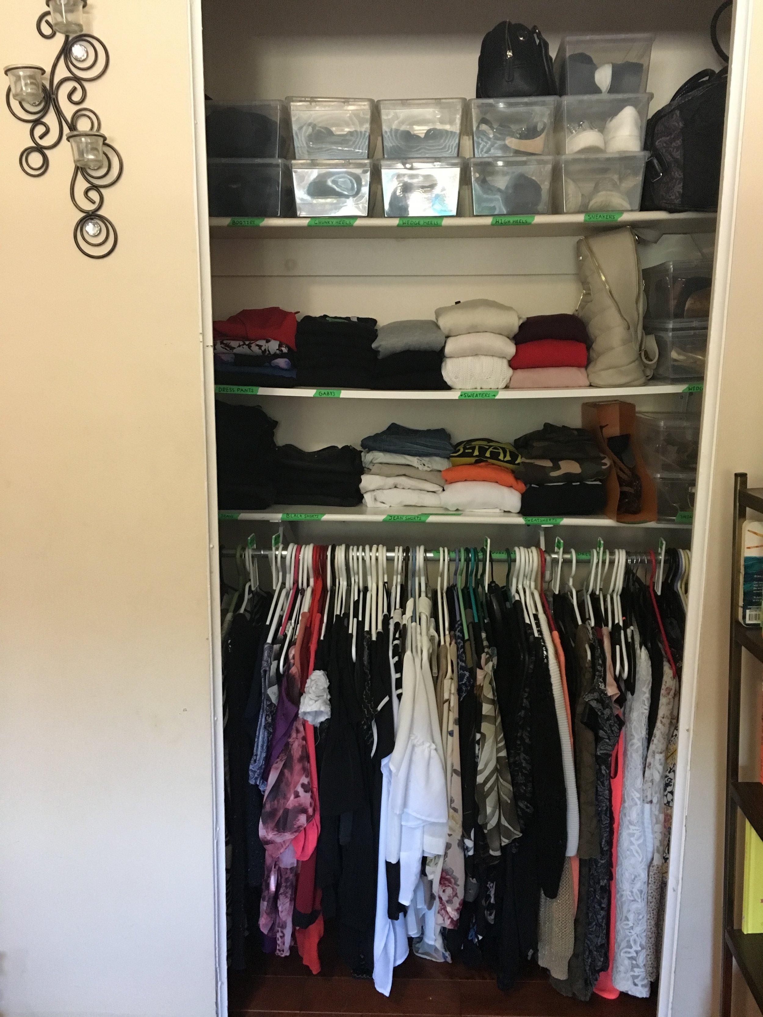 Closet 1: After / In-Progress