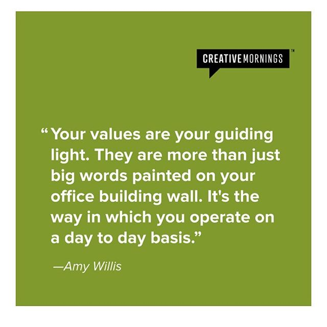 Couldn't have said it better ourselves! How are you living your values today?  via @creativemorning  #valyou #values #liveyourvalues #domoregood #dowhatsright