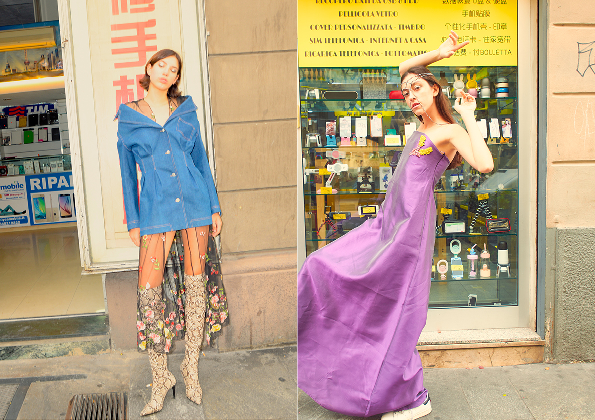 Transparent dress: vintage; Boots: Mango