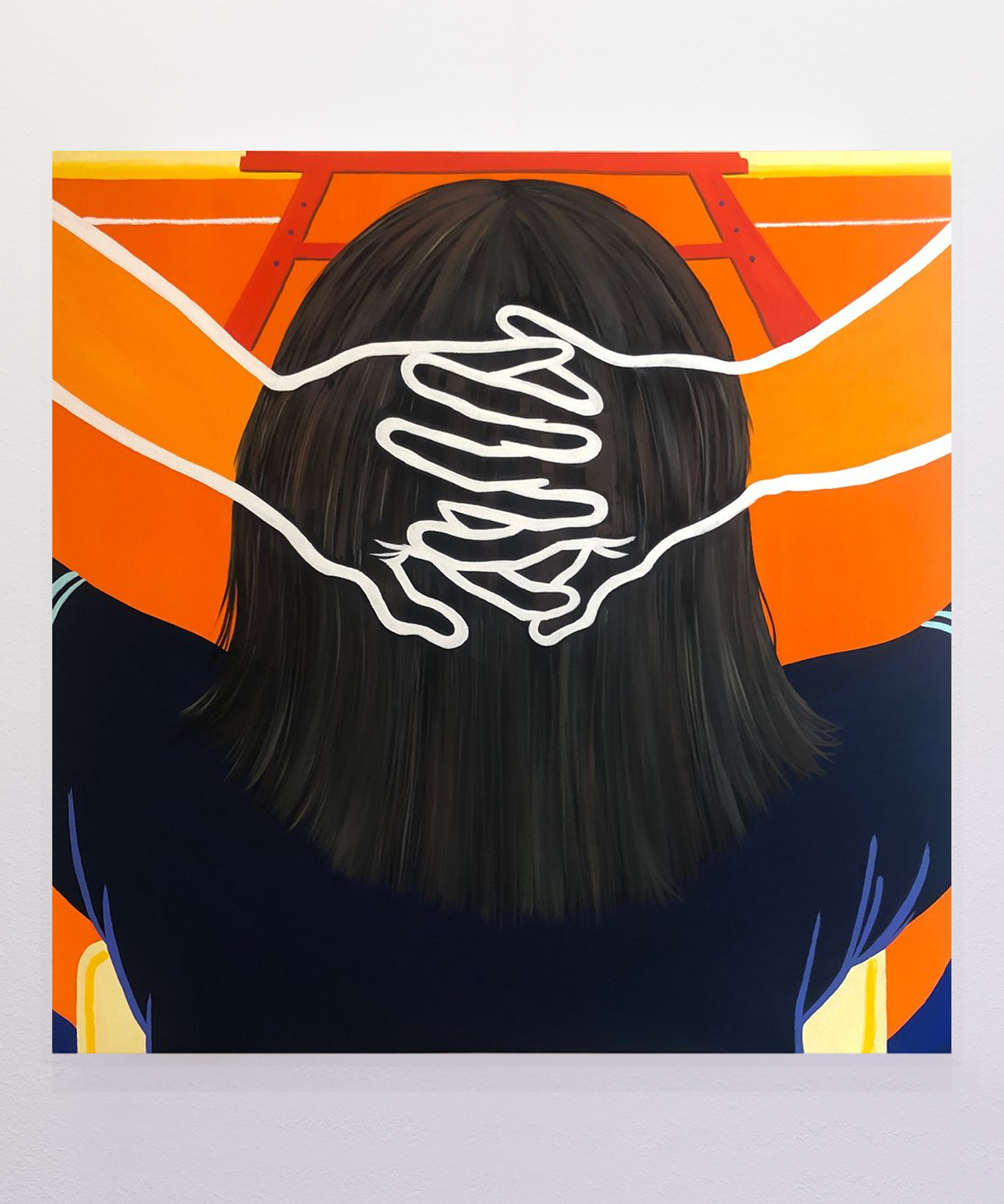 HALF GALLERY | NEW YORK HIEJIN YOO   Hmm , 2019 Flashe and oil on canvas 36 in x 36 in / 14 cm x 14 cm