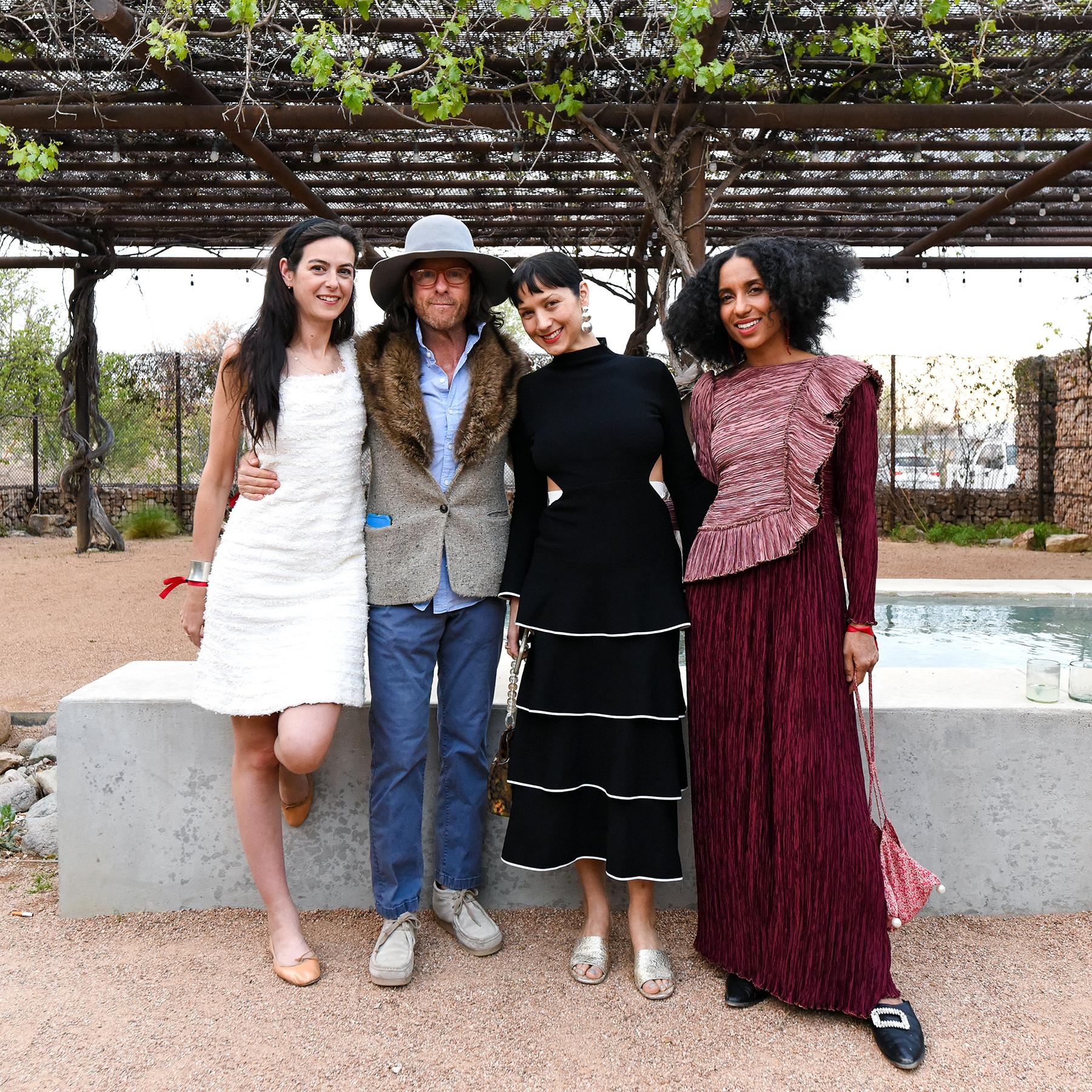 MI COCKTAIL RECEPTION + DINNER   THE CAPRI   MARFA  Malissa Bent, Michael Phelan, Amanda Carter, Chioma NNadi