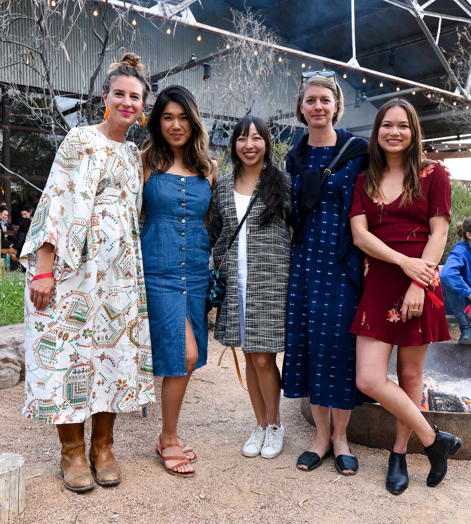 MI COCKTAIL RECEPTION + DINNER   THE CAPRI   MARFA  Elise Pepple, Kristina Lee, Kim Ishikawa, Kristina Fort, Sarah Miller