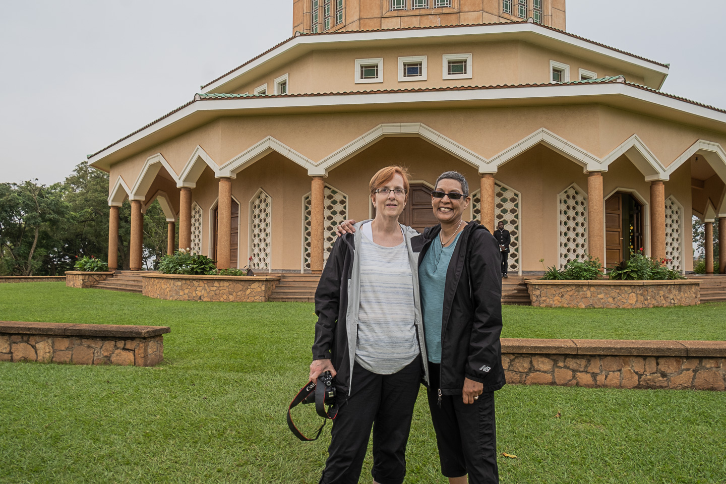 Kim and I in front of the Bahai House of Worship