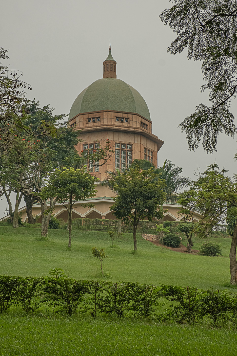 The Bahai House of Worship Sits High Atop A Hill in Kampala