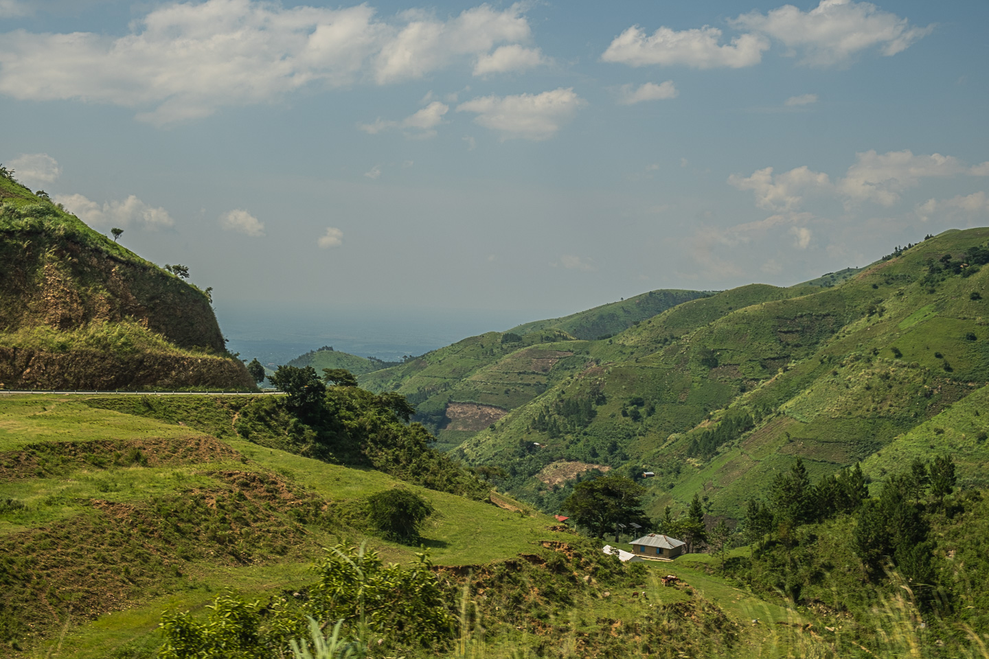 View of the Western Rift Valley near Fort Portal, Uganda