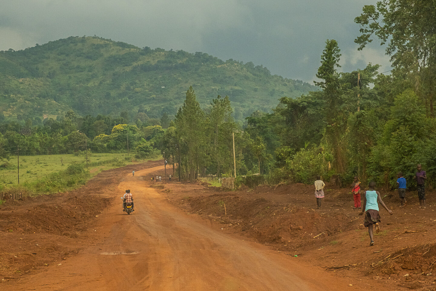 Road without construction in Uganda