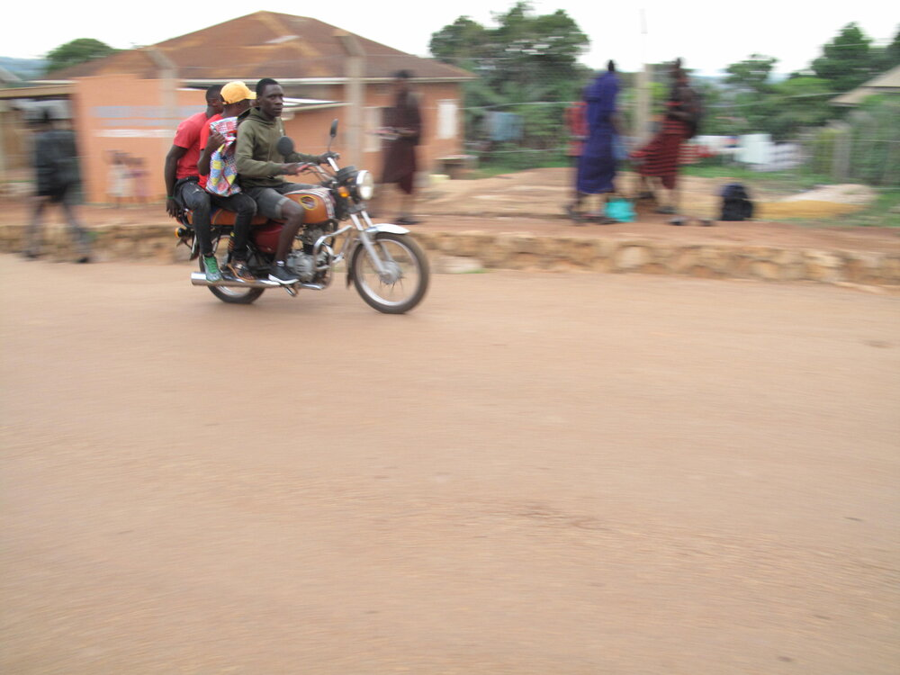"""Vivian took this photo after learning about """"panning"""" during our 3-day training in Uganda"""