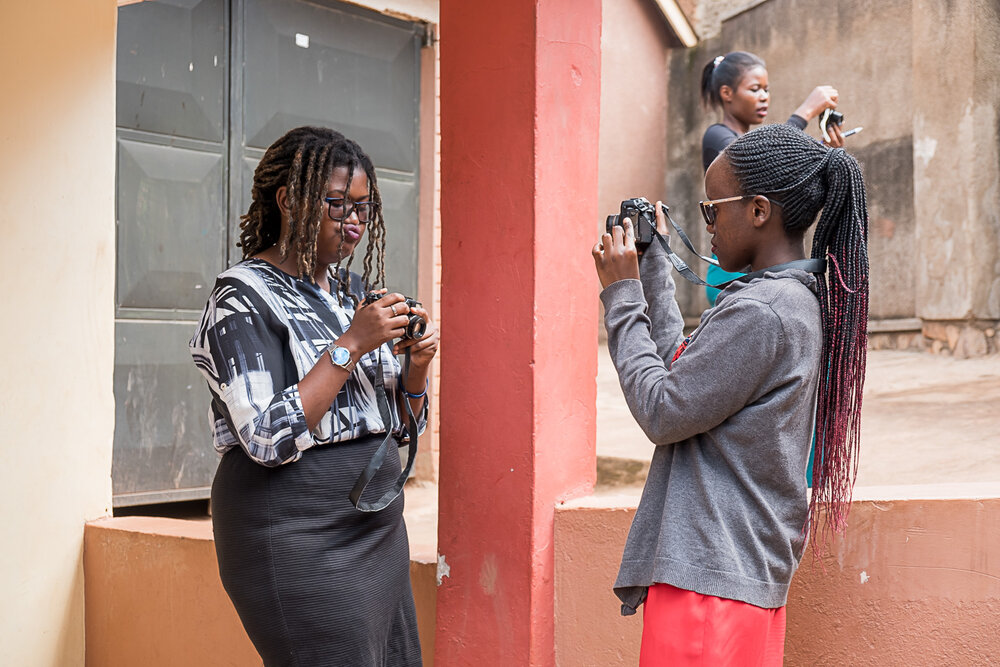 Cameras For Girls students practicing their photography skills in Kampala, Uganda @Amina Mohamed Photography