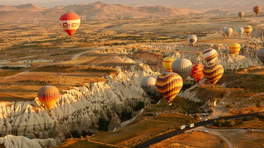 Riding an Air Balloon over Goreme in Cappadocia @Amina Mohamed Photography