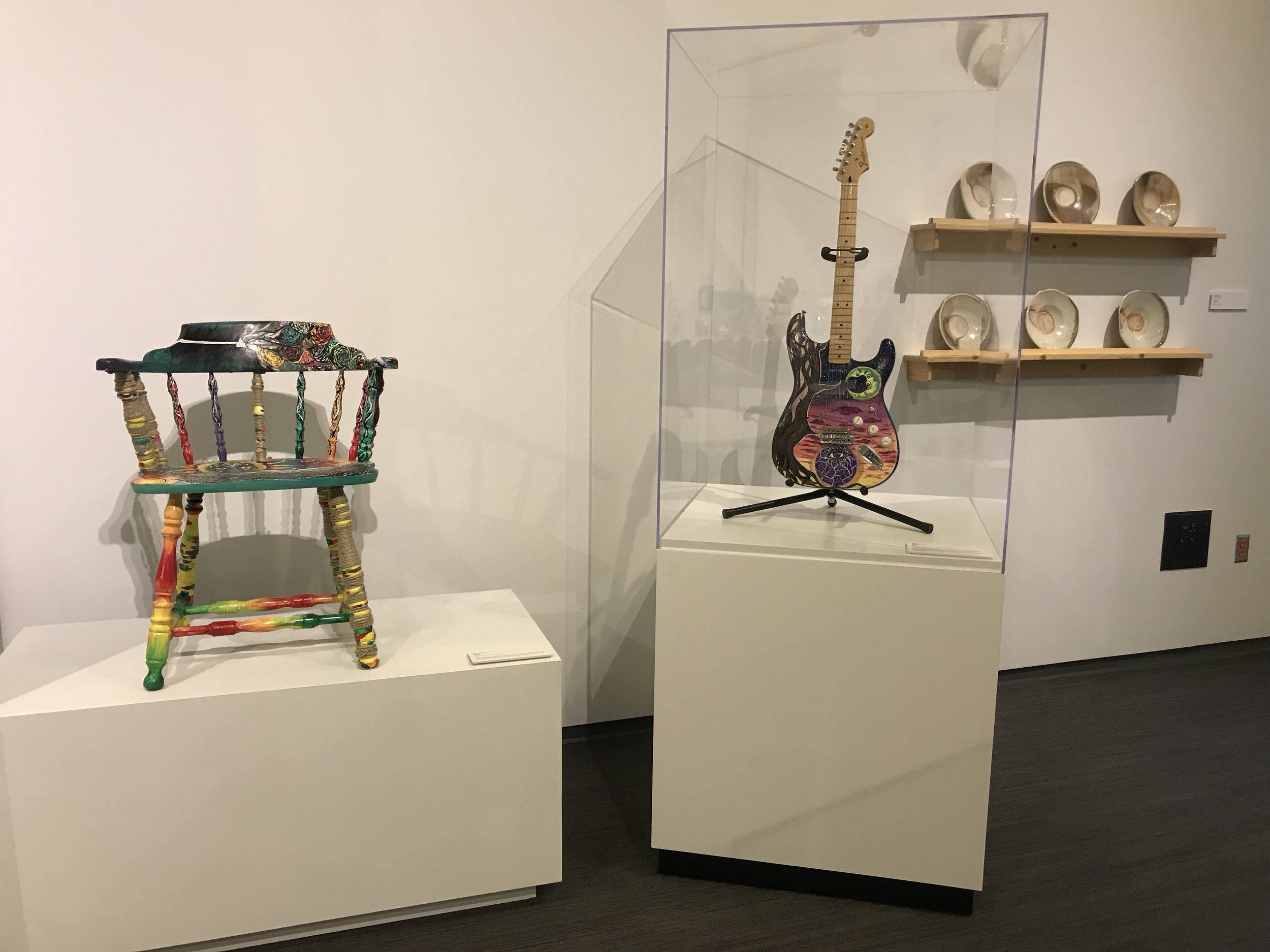 Emily's Painted Chair and Guitar