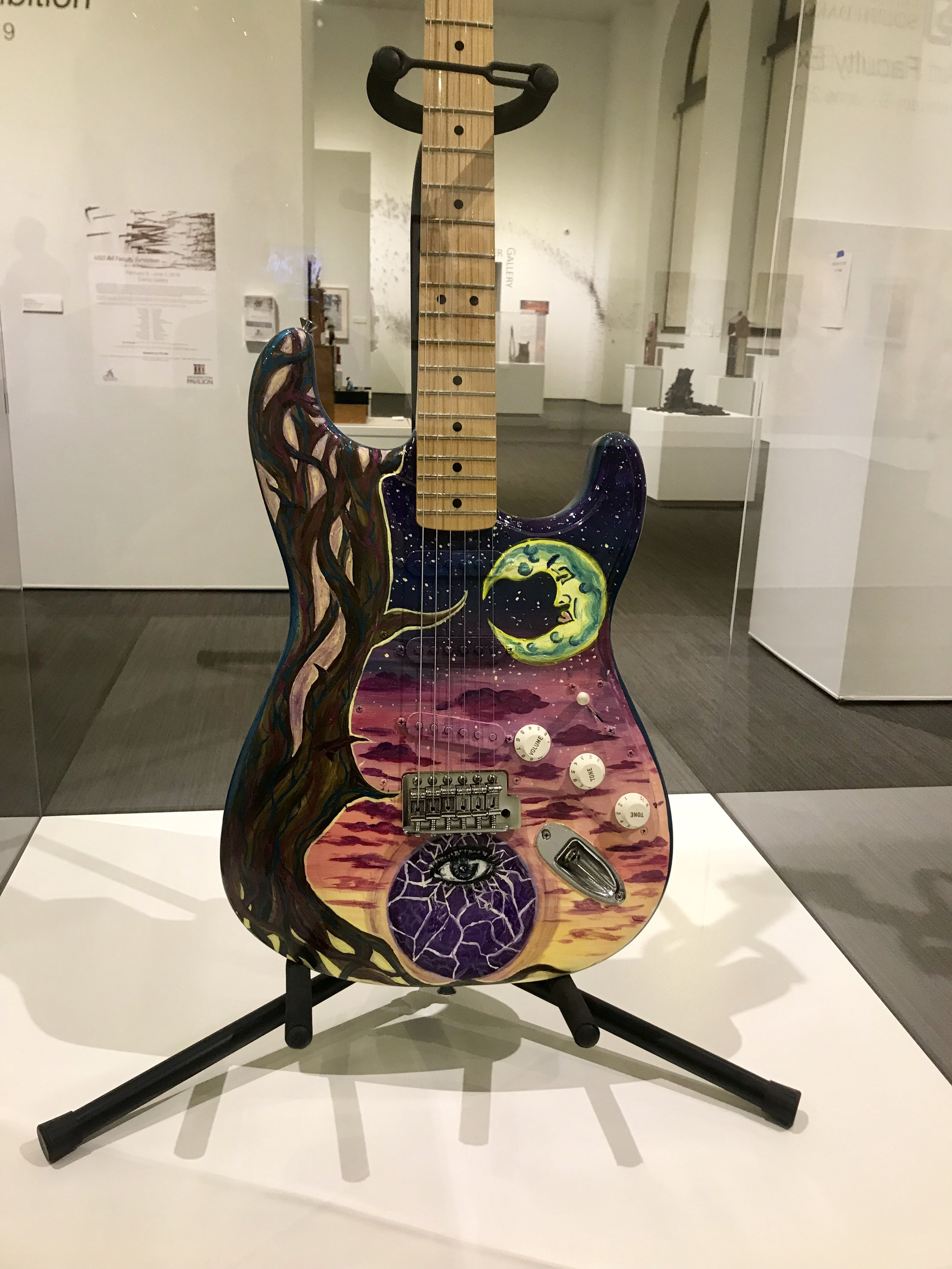 Guitar Emily Painted for Sioux Falls Jazz Fest
