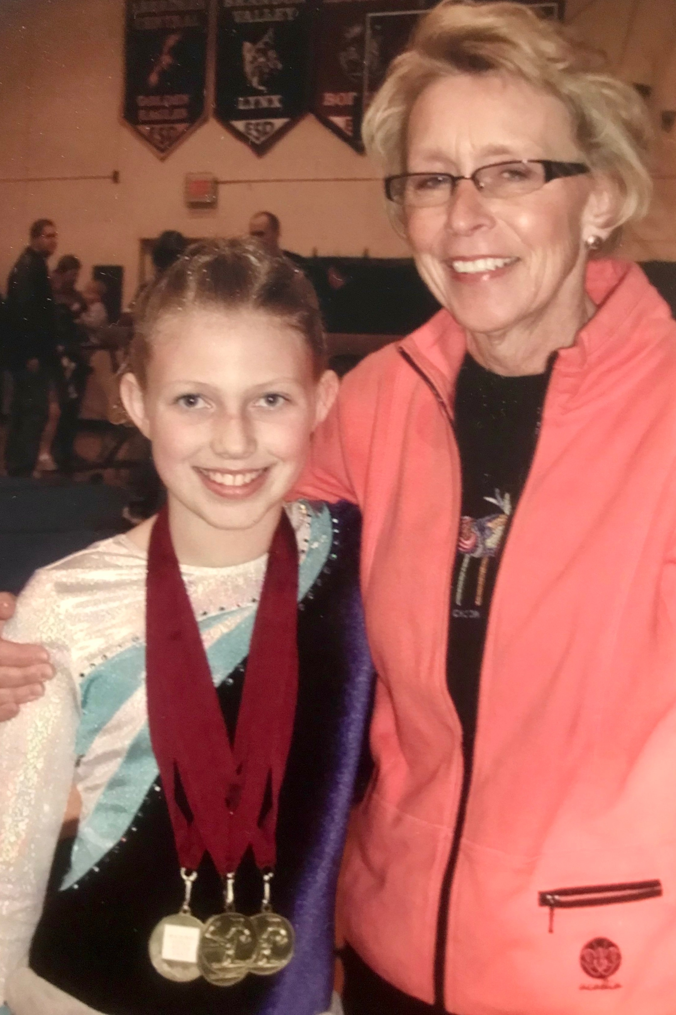 Rita & Emily following one of Emily's gymnastic meets
