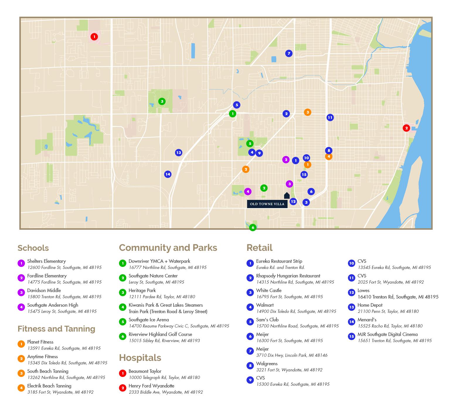 Southgate-Michigan-Map-Old-Towne-Villa.png