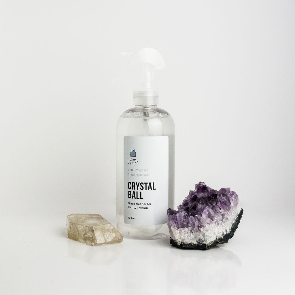Lipstick Warrior Seal of Approval: Crystal Ball Glass Cleaner for clarity + vision. Clean your home with intention! Align your home's energy and tidy up your messes…