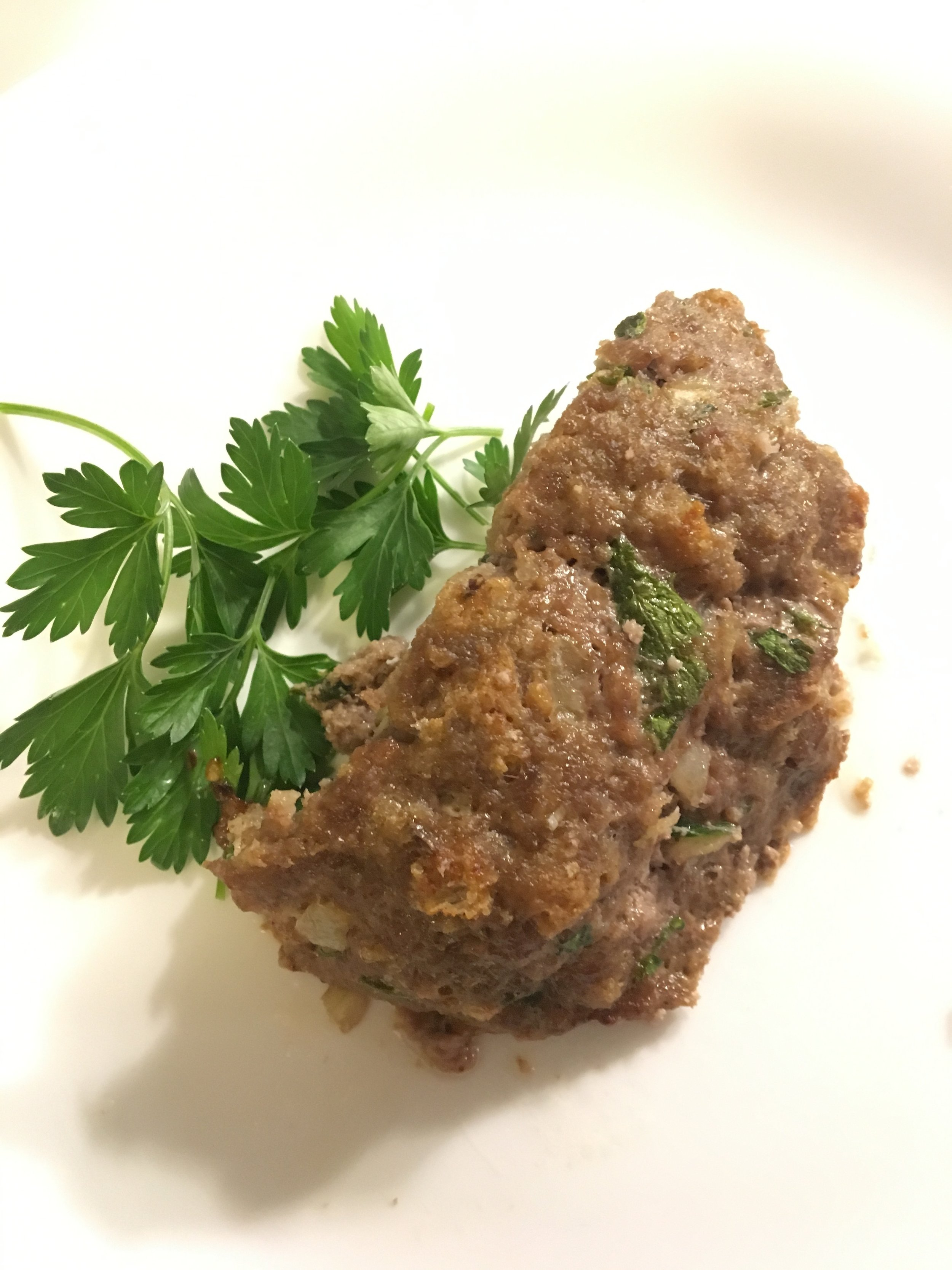 Moroccan Meatloaf with ground lamb