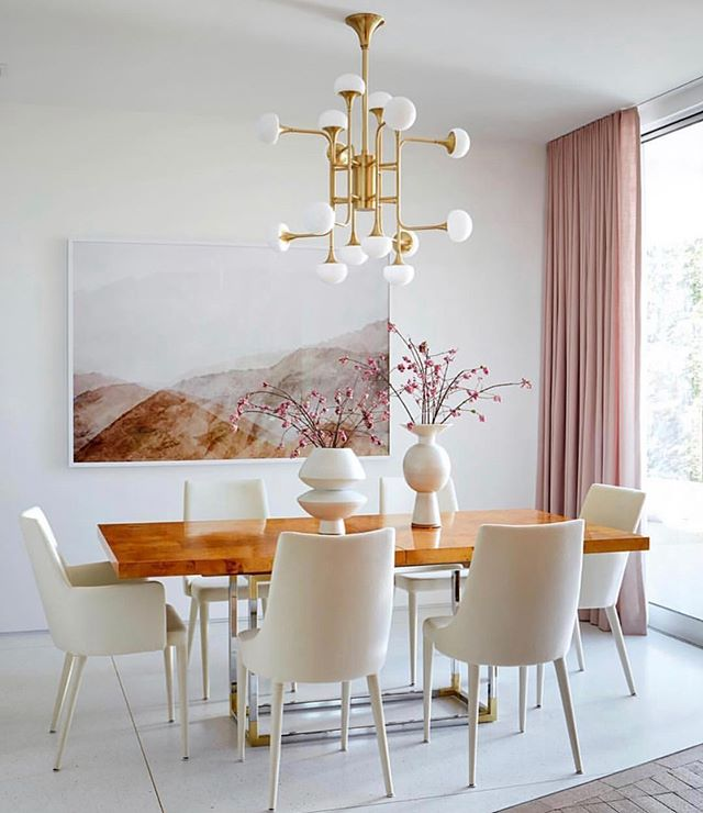 "MEMORIAL DAY SALE STARTS NOW!  Enter code SAVE20 at checkout to receive 20% off! (Photo of @mandymooremm's dining room designed by @sarahshermansamuel featuring our ""Sal 5"" print 💛) Photo for @archdigest by @trevortondro"