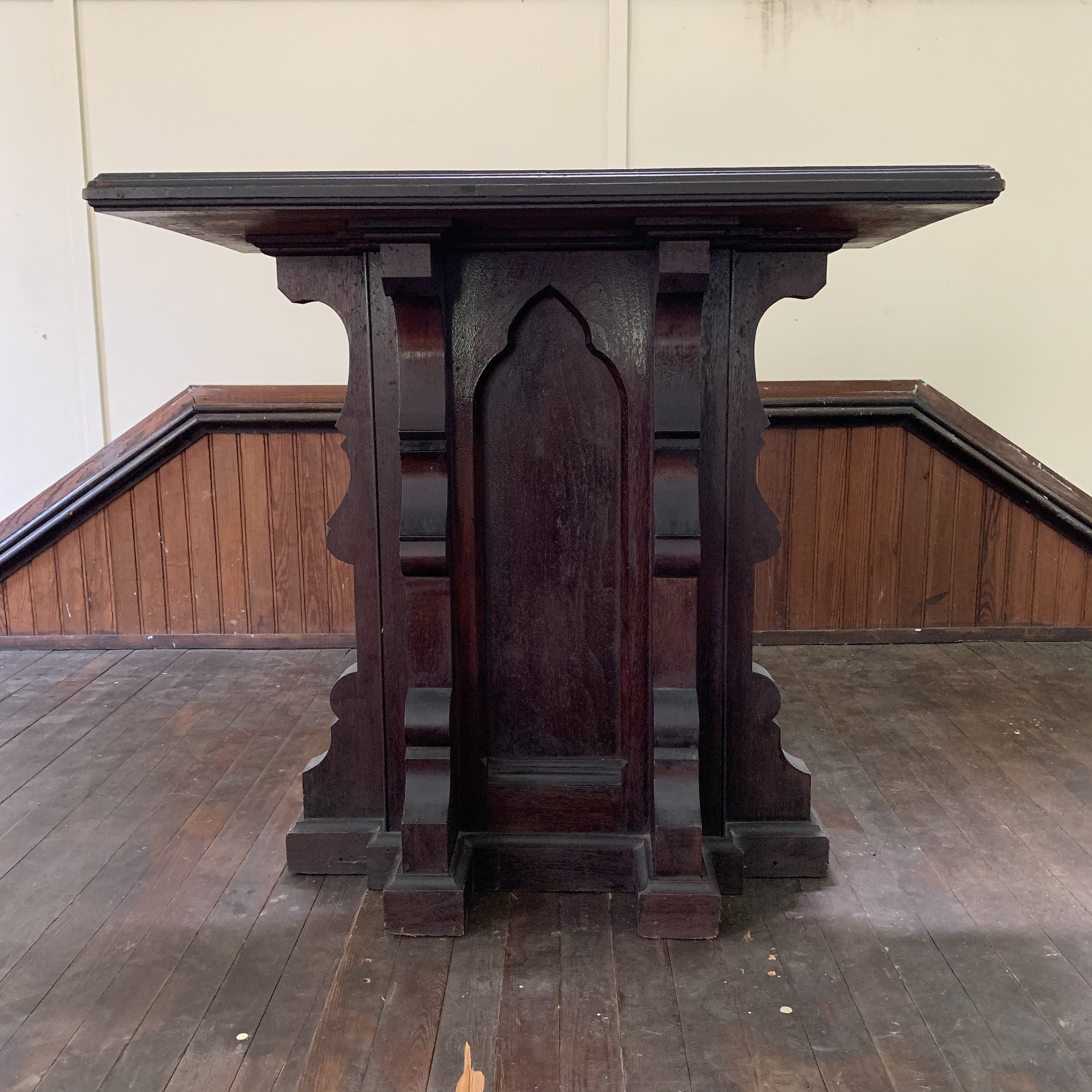The pulpit at the John Wesley Church in Waterford.