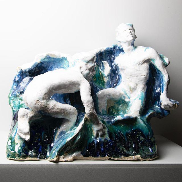 """Swimwear"" 2019 clay glaze 32x42x20 art#artist#ceramics #gayartwork#gayartist#contemporaryart #artwork#sculpture#interior#kunst#gayaustria#handmade #wien #österreich"