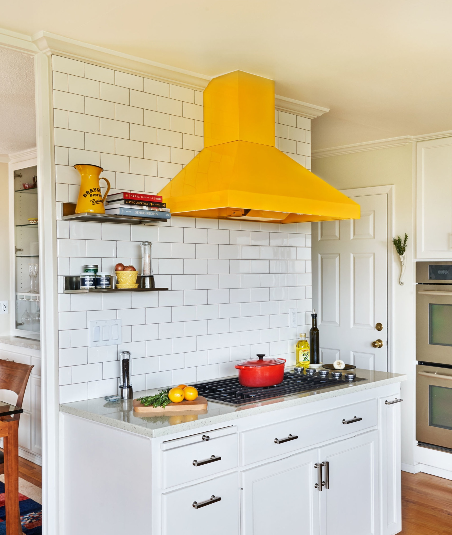 New hood / pop of color in existing kitchen