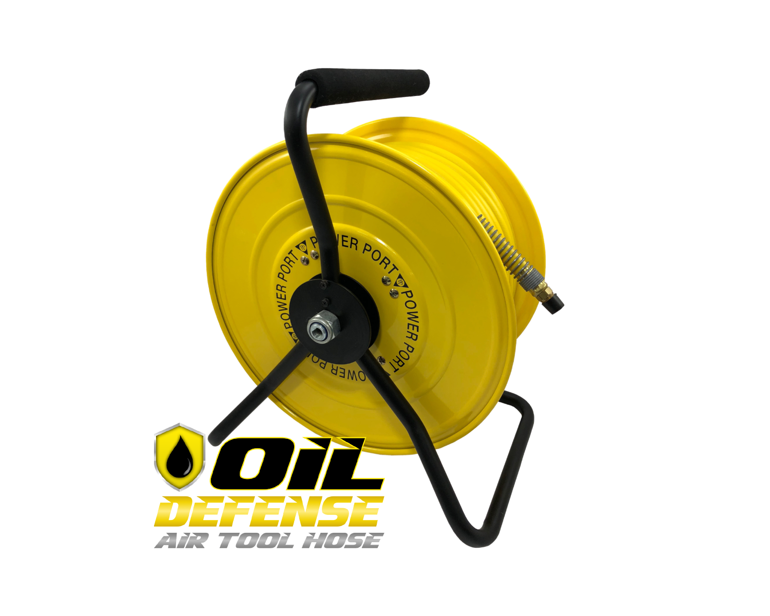 Oil Defense Steel Air Hose Reel