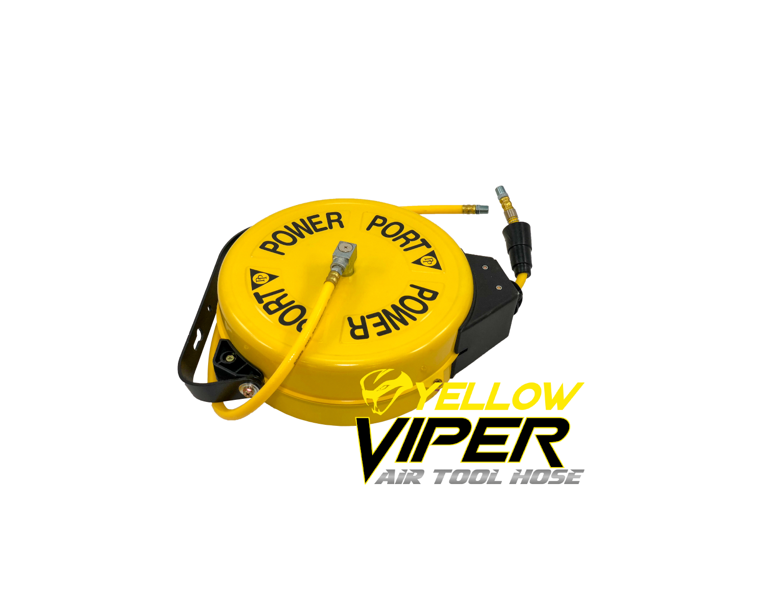 Yellow Viper Retractable Steel Air Hose Reel