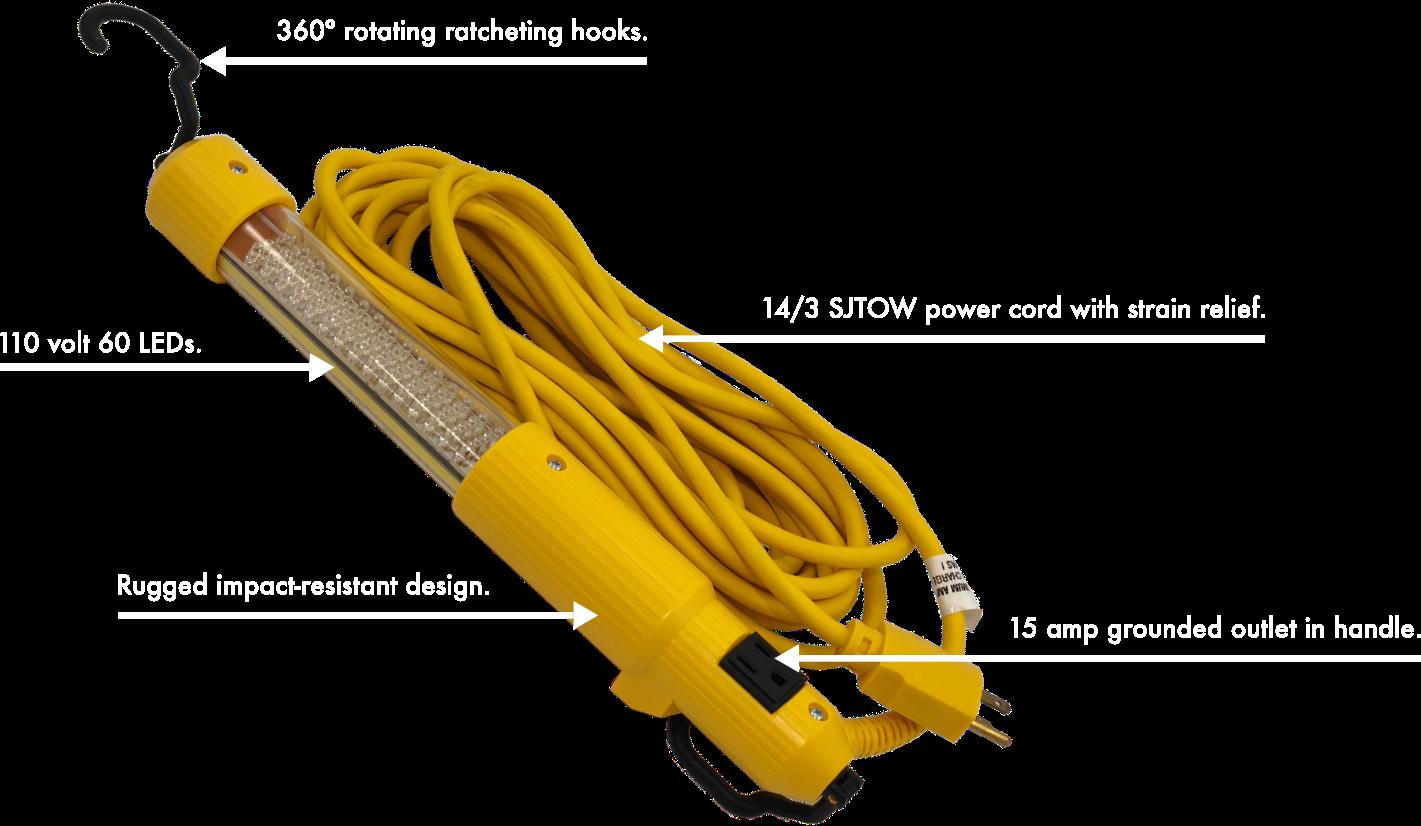 LED Work Light Diagram