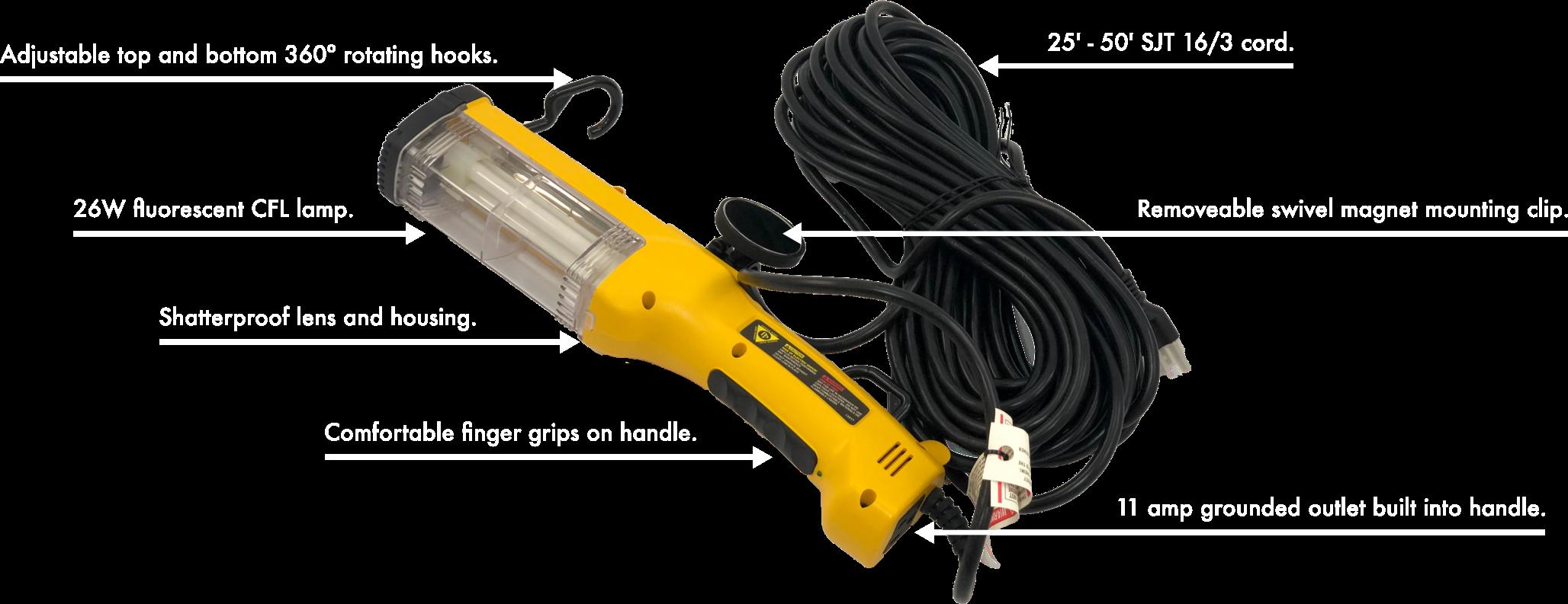 Handheld Fluorescent Work Light