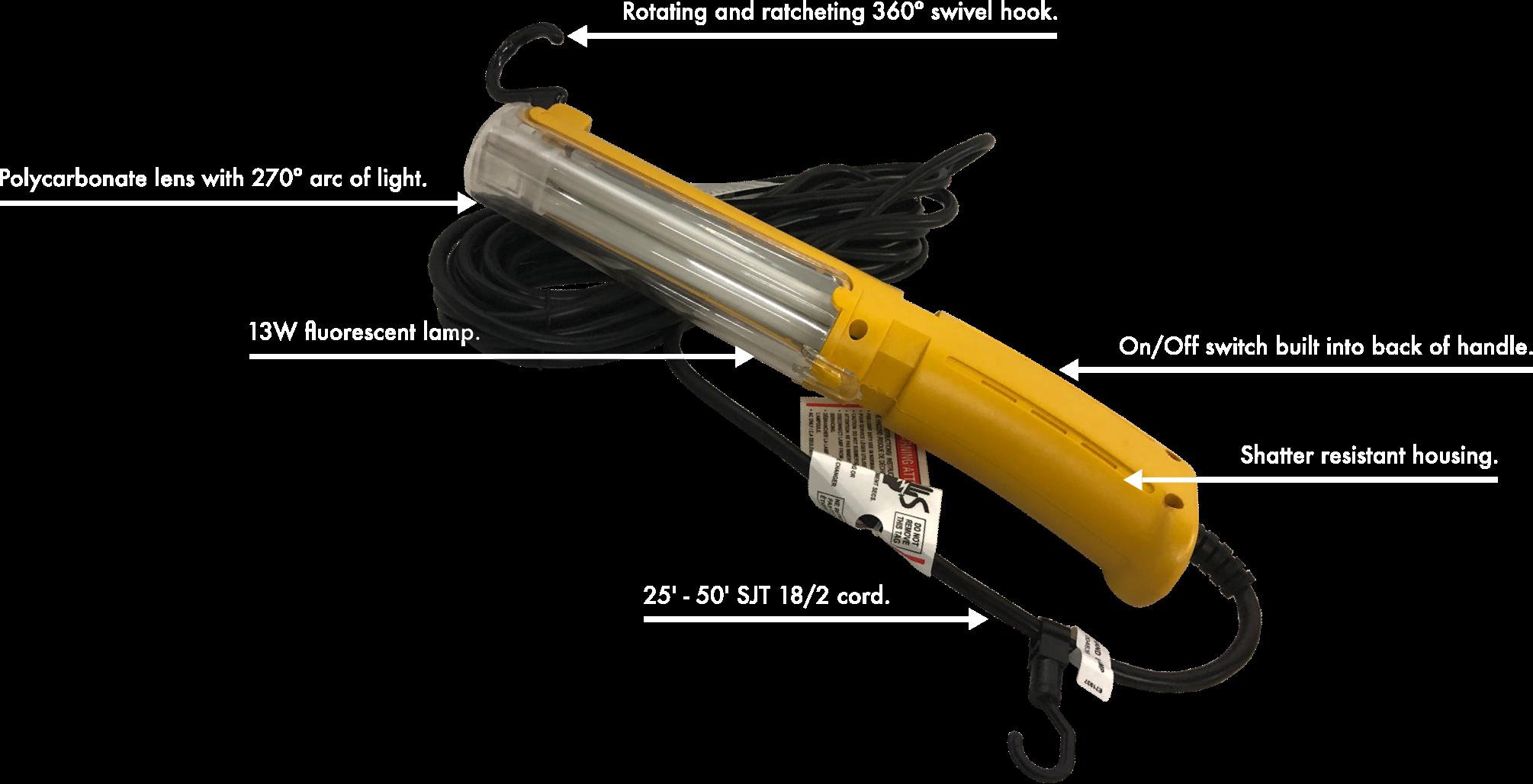 13W Handheld Fluorescent Work Light